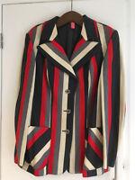 Vintage 70s stripe blazer med to large retro mod