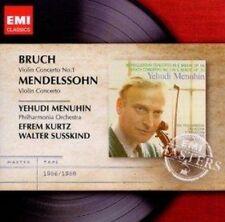 Yehudi Menuhin - Bruch Mendelssohn Violin Concertos (NEW CD)
