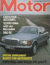 Motor magazine 9/1/1982 featuring VW Polo road test, Mercedes