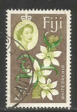 Fiji 1962-67 QEII 2sh Orchids--Attractive Flower Topical (184) fine used