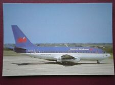 POSTCARD BRITISH MIDLAND BOEING 737-2Q8 AT JERSEY