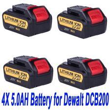 4X 18V 5.0AH Li-ion Battery For Dewalt DCD740B DCB180 181 DCB200 with Fuel Guage