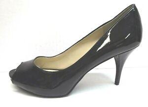 Nine West Size 10 Black Patent  Open Toe Heels New Womens Shoes