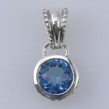 Barse Jewelry Sterling Silver Blue Swarovski Pendant