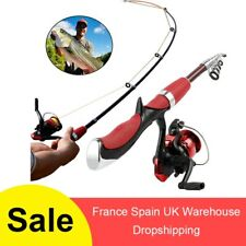 Telescopic Fishing Rod Combo and Reel Full Kit Ice Fishing Spinning Reel Rod