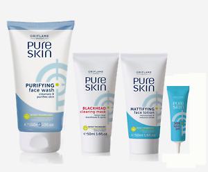 PURE SKin Purifying SET: Face Wash, Blackhead Mask, Lotion, Spot Gel Oriflame