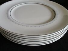 Royal Doulton English Bone china TIARA Dinner plates x 6