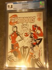 Champions #1 J.Scott Campbell Red Sketch Variant CGC Graded 9.8 WOW!!!!