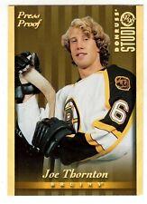 1997-98 DONRUSS STUDIO #54 JOE THORNTON GOLD PRESS PROOF