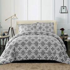 3-pc. King/Cal King Gray Trellis Geometric Down Alternative Comforter Set