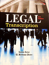 Legal Transcription by G. Howard Doty, Linda R. Lyle and Lyle Paperback Xmas