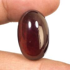 35.40 Cts Natural Hessonite Garnet 24mm Big Oval Cabochon Untreated Gemstone