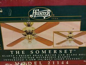 """Hunter 48"""" Ceiling Fan  - The Somerset - model 21144"""