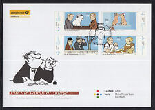 K 01 ) Germany 2011 beautiful Large FDC  - Motifs from Cartoon Films of Loriot