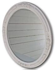 Specchio da parete ovale NUOVO BIANCO LEGNO DECORAZIONI BAROCCO in stile antico