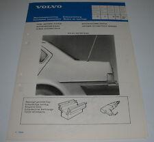 Einbauanleitung Volvo 340 / 360 Sedan elektrische Motor Antenne hinten Mai 1983!