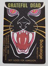 Grateful Dead Backstage Pass New Year's Eve Run 1991 Pass 2 of 4 Oakland 12-28