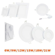 Dimmable LED Recessed Ceiling Panel Light 9W 12W 15W 18W 21W Downlights  RD19