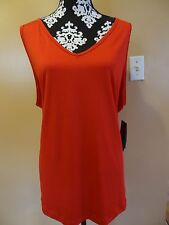 Woman Reebok active sleeveless red tank top plus size 22-24 casual solid