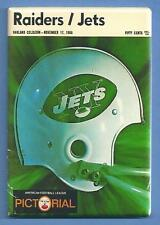OAKLAND RAIDERS FOOTBALL PROGRAM *2X3 FRIDGE MAGNET* NEW YORK JETS HEIDI GAME