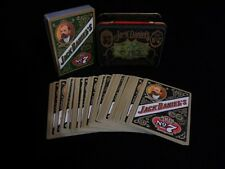 Vtg Jack Daniels Old No7 Gentlemens 2 Deck Playing Cards In Tin - Very Nice!
