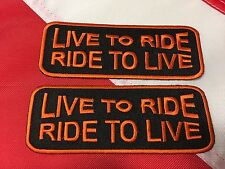 Patch LIVE TO RIDE Ride to live fun jacket vest club survival # 414 cute