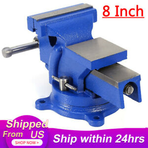 """HEAVY DUTY 8"""" WORK BENCH VICE VISE WORKSHOP CLAMP ENGINEER JAW SWIVEL BASE TABLE"""