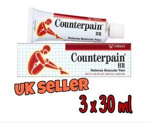 3 x 30gr tubes Counterpain /Heat Balm
