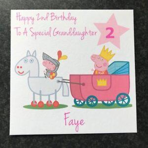 Personalised Peppa Pig Birthday Card - Niece Granddaughter Daughter- 2nd 3rd 4th
