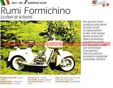 RUMI 125 Formichino 1954 Scooter Fiche Moto 000230