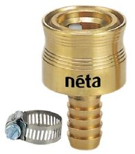 Deluxe Hose Connector 12mm Barbed Tail Brass Neta