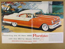 1955 Pontiac Star Chief Coupe car illustration art vintage print Ad
