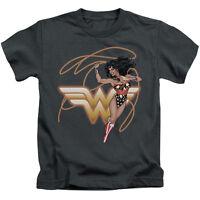 WONDER WOMAN GLOWING LASSO Toddler Kids Graphic Tee Shirt 2T 3T 4T 4 5-6 7
