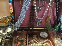 Estate Vintage Now Jewelry Lot-2 LBS Grab Bag-Wear Resale Craft-UNTESTED
