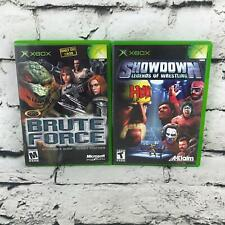 XBox Video Game Lot Of 2 Brute Force, Showdown: Legends Of Wrestling