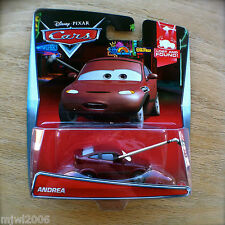 Disney PIXAR Cars ANDREA diecast 2015 LOST AND FOUND! theme 3/8 Boom mic press