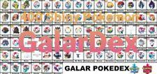 400 Square Shiny Pokemon (6IV) Galar Pokedex for Sword/Shield/Home