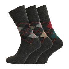 NUOVO-x 6 paio di cotone RICH Plain abito Socks Nero UK 6-11 EU 39-45