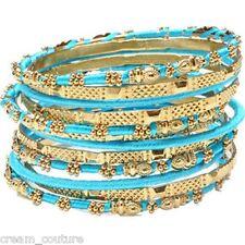Amrita Singh Jaana Turquoise 12 Piece Bangle Set Lot Size 8 NEW MSRP $100 KB364