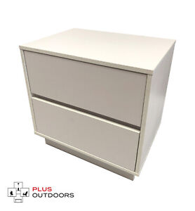 2 Drawer Cabinet Office Storage Drawers Cupboard White Colour - Free Shipping