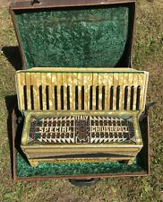 More details for superb antique vintage piano accordion italy special chiusaroli voci a mano.