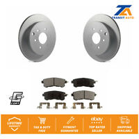 Rear Coated Disc Rotor & Semi-Metallic Brake Pad For Infiniti Qx56 Nissan Armada