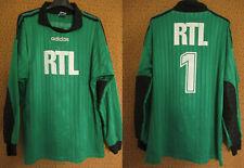Maillot RTL porté Coupe de France Adidas Gardien #1 vintage 90'S vert - L