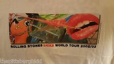 NICE 2002 ROLLING STONES FORTY LICKS CONCERT T SHIRT M NEVER WORN