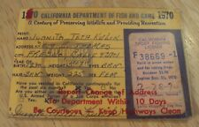 """1970 Lot of 2 """"California License Stamp""""~Protected License~Golden Trout~"""