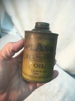 Vtg OILASHU Neatsfoot Harness Shoe Oil Tin 1/2 Pt can Leather Cleaner polish