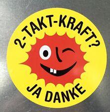 Vespa Lambretta Honda Roller Scooter Sticker Aufkleber  2 Takt Kraft Ja Danke!