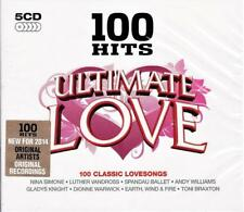 100 HITS ULTIMATE LOVE - ORIGINAL RECORDINGS - VARIOUS ARTISTS (NEW SEALED 5CD )