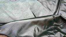 leather hide very very large 50sft quality dark green hide upholstery craft car#