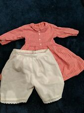 American Girl Doll Addy Retired Pleasant Company Meet Outfit Dress +Drawers 1993